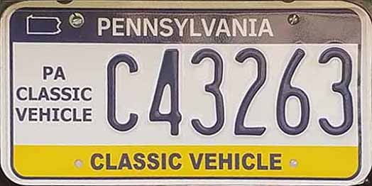 Here\u0027s the latest high number Classic Vehicle also spotted by Bruce Bufalini. These plates added the small map outline at C40900 and it appears that they ...  sc 1 th 159 & PA PLATES (Pennsylvania License Plates)
